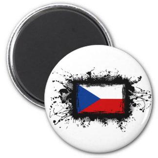 Bandera de la República Checa Imán Redondo 5 Cm