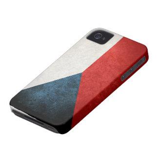 Bandera de la República Checa iPhone 4 Case-Mate Carcasas