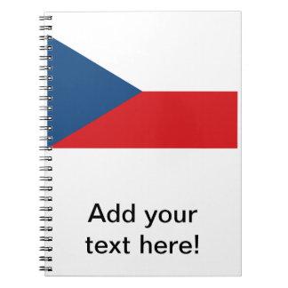 Bandera de la República Checa Libros De Apuntes Con Espiral