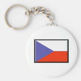Bandera de la República Checa Llavero Redondo Tipo Pin