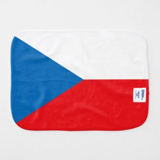 Bandera de la República Checa Paños De Bebé