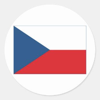 Bandera de la República Checa Etiquetas Redondas