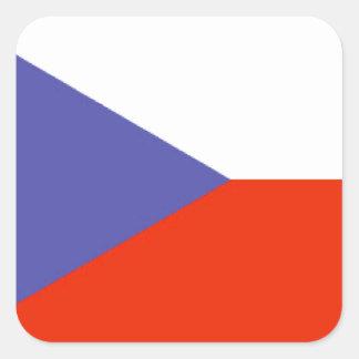 Bandera de la República Checa Pegatina Cuadrada
