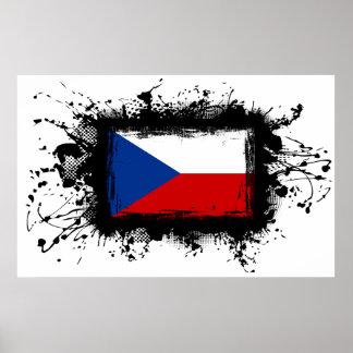 Bandera de la República Checa Póster