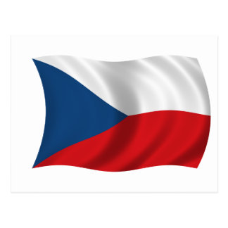 Bandera de la República Checa Tarjeta Postal
