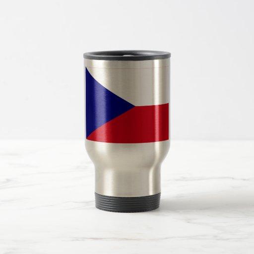 Bandera de la República Checa Taza De Viaje De Acero Inoxidable