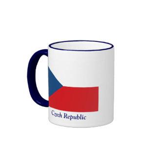Bandera de la República Checa Taza De Dos Colores