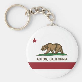 Bandera de la república de Acton California Llaveros Personalizados