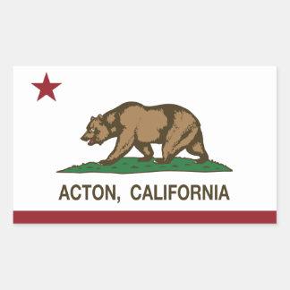 Bandera de la república de Acton California Pegatina Rectangular