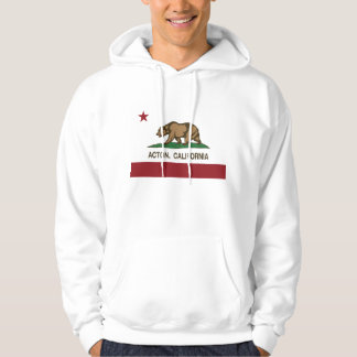 Bandera de la república de Acton California Sudadera Con Capucha