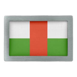Bandera de la república de África central Hebillas De Cinturon Rectangulares
