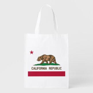 Bandera de la república de California Bolsas Reutilizables
