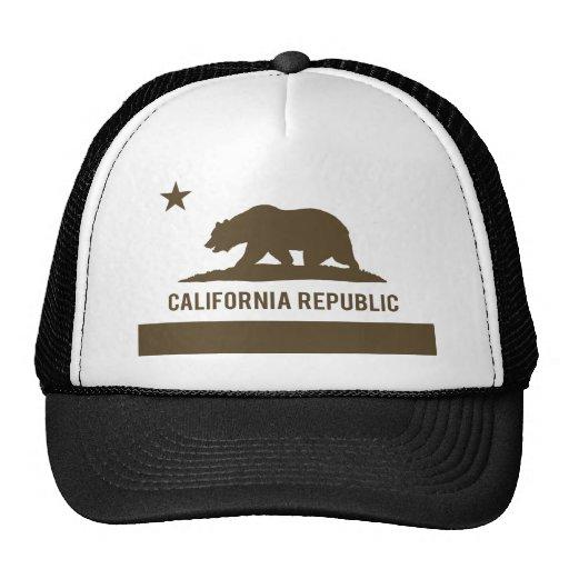 Bandera de la república de California - Brown Gorra