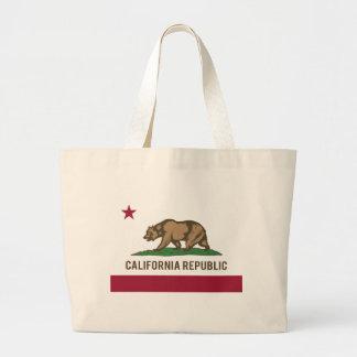 Bandera de la república de California - color Bolsa Tela Grande