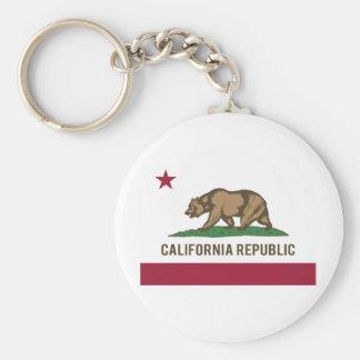 Bandera de la república de California - color Llavero Redondo Tipo Pin