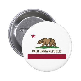 Bandera de la república de California - color Pin Redondo De 2 Pulgadas