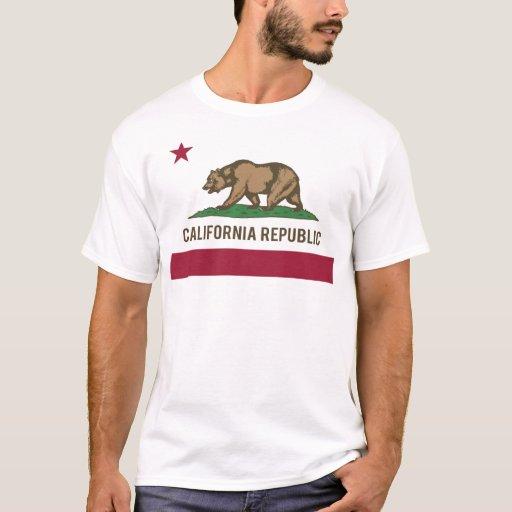 Bandera de la república de California - color Playera