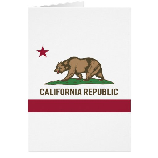 Bandera de la república de California - color Tarjeta De Felicitación