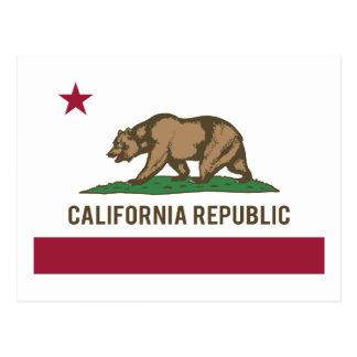 Bandera de la república de California - color Postal