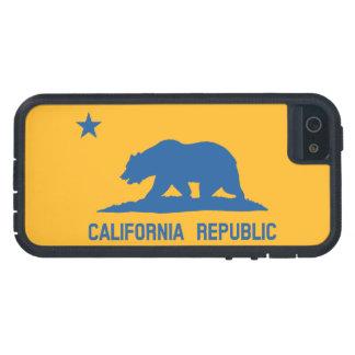 Bandera de la república de California del azul y iPhone 5 Carcasa