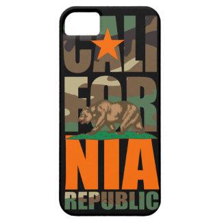 Bandera de la república de California del camuflaj iPhone 5 Case-Mate Protectores