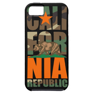 Bandera de la república de California del camuflaj iPhone 5 Carcasas