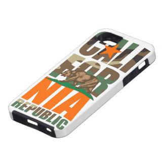 Bandera de la república de California del camuflaj iPhone 5 Case-Mate Cárcasa