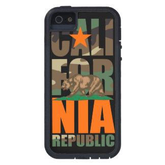 Bandera de la república de California del camuflaj iPhone 5 Carcasa