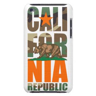 Bandera de la república de California del camuflaj Barely There iPod Carcasas