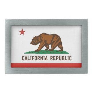 bandera de la república de California del estado d Hebilla De Cinturon Rectangular
