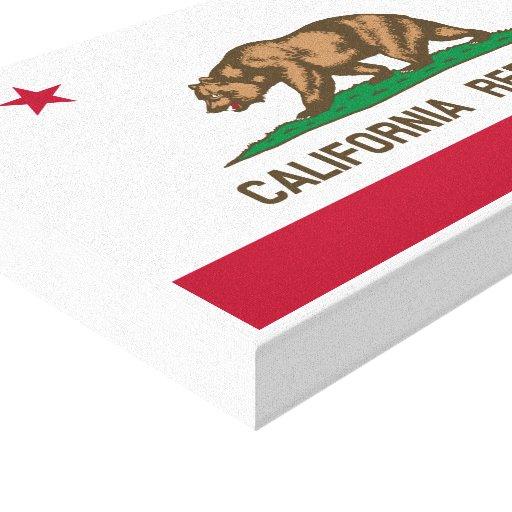 Bandera de la república de California Impresión En Lienzo