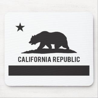Bandera de la república de California - negro Tapetes De Ratones