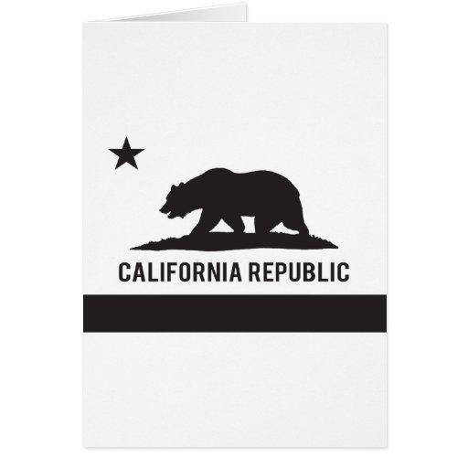 Bandera de la república de California - negro Tarjeta De Felicitación