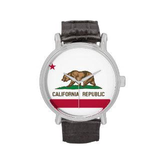 Bandera de la república de California Reloj