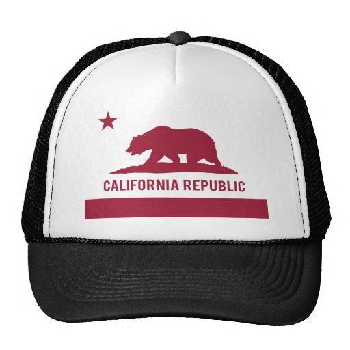 Bandera de la república de California - rojo Gorra