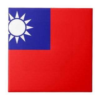 Bandera de la República de China (Taiwán) - 中華民國國旗 Azulejo Cuadrado Pequeño