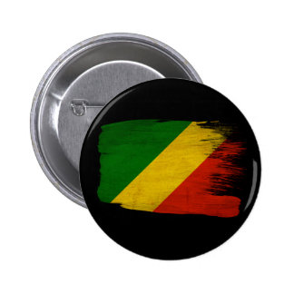 Bandera de la república de Congo Pin Redondo 5 Cm