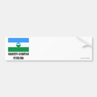 Bandera de la república de Kabardino-Balkar Pegatina Para Auto