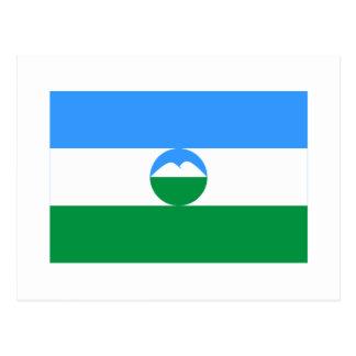 Bandera de la república de Kabardino-Balkar Tarjeta Postal