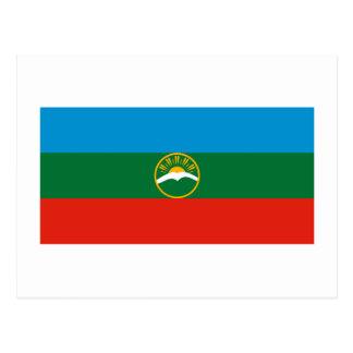 Bandera de la república de Karachay-Cherkess Postales