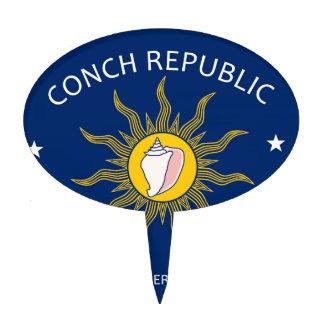 Bandera de la república de la concha figuras para tartas