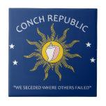 Bandera de la república de la concha azulejos ceramicos