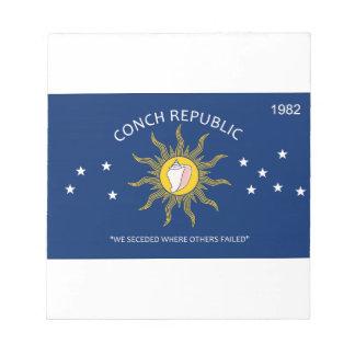 Bandera de la república de la concha blocs de papel