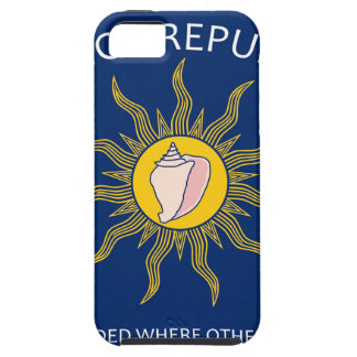 Bandera de la república de la concha funda para iPhone 5 tough