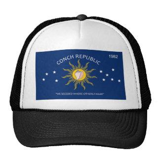 Bandera de la república de la concha gorras de camionero