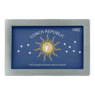 Bandera de la república de la concha hebilla cinturón rectangular