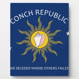 Bandera de la república de la concha placas con fotos
