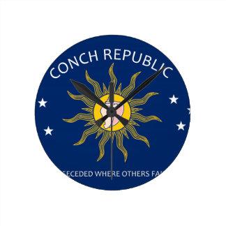 Bandera de la república de la concha reloj