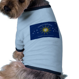Bandera de la república de la concha camisetas de perro