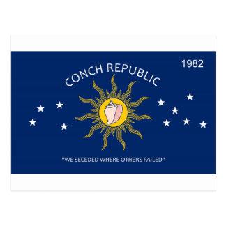 Bandera de la república de la concha postal